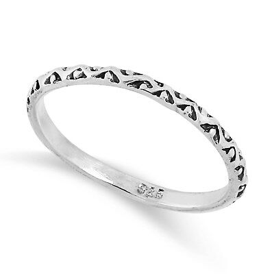 NEW 925 Solid Sterling Silver Celtic Waved  Dot ring in Sizes G-Z