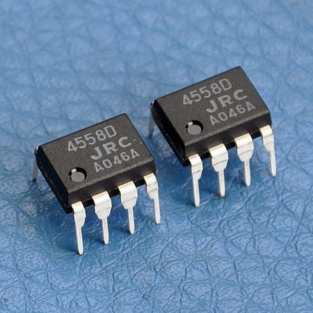 4x JRC Dual Operational Amplifier IC NJM4558D,NJM4558