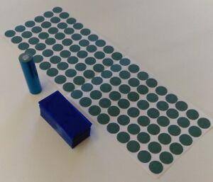 108-pc-Pre-Cut-18650-Insulator-and-ELECTRIC-BLUE-PVC-Heat-Shrink-Wrap-Vape-ebike