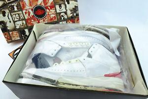 purchase cheap d6e71 ed8b0 La foto se está cargando Nike-Jordan-2-Retro-Blanco-Rojo-Air-Negro-
