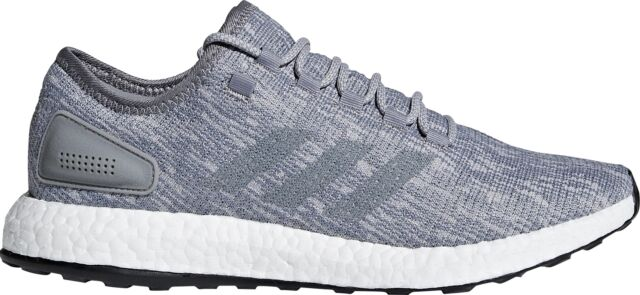 55f7ed254106f adidas Pureboost Grey White Men Running Shoes SNEAKERS Trainers ...