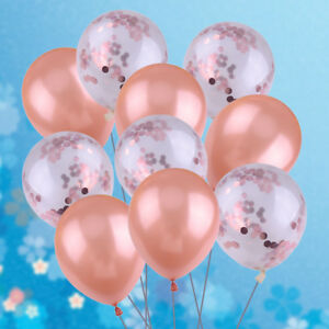 10pcs-12Inch-Rose-Gold-Confetti-Latex-Balloon-Baby-Shower-Wedding-Birthday-Party