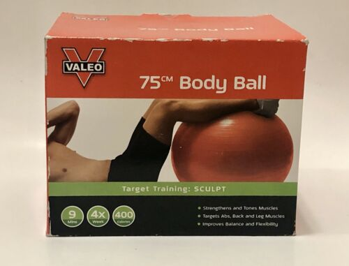 Red 75 cm Valeo Exercise Body Ball with Pump