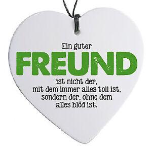 Herz Mit Spruch Ein Guter Freund Ebay