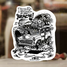 Back to the beach Sticker Original Ed Roth Autocollante Rat Fink Aufkleber