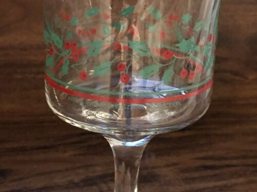 SET OF 4 ARBY/'S 1986 COLLECTION GLASSES CHRISTMAS GLASS