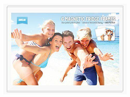 10x15cm Shot2go Pack of 6 magnetic photo fridge frame pockets clear 4x6