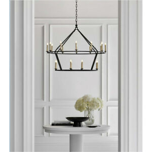 Image is loading Darlana-Horchow-Visual-Comfort-Two-Tiered-Ring-Chandelier- e0f792ce92