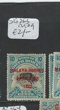 NORTH BORNEO (P1706B) 1922 MBE 10C BOAR SG263  MOG