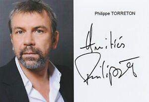 Autographe-Original-PHILIPPE-TORRETON
