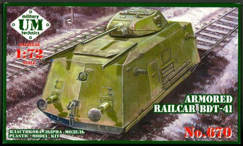 UM-MT Models 1//72 SOVIET WWII ARMORED RAIL CARRIER BDT-14