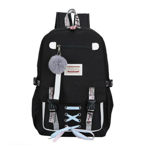 Large Anti Theft Bookbag W//USB Lock Handbag Travel School Backpack for Girls Boy