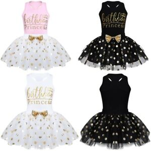 Bbay-Girl-Lace-Dress-Birthday-Party-Princess-Outfit-Bow-Tutu-Skirt-Set-Age12M-6Y