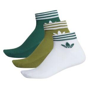 Cooperación Cadera apuntalar  Calcetines Adidas Originales EE1154 BRIF Ank Calcetines HC Moda Hombre  Blanco/Verde | eBay
