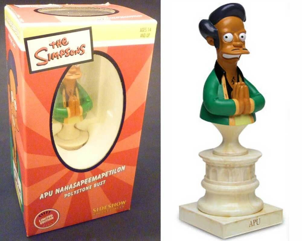 Sideshow THE SIMPSONS mini bust APU NAHASAPEEMAPETILON statue boxed  421/3000