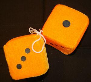 Fuzzy Dice Auto Plüschwürfel Würfel Orange 8x8 Cm Ebay