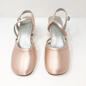 DYELIGHTS-Pink-Satin-Classy-Heels-Sz-9-5-Shoes-New-without-Box