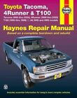 Toyota Tacoma, 4Runner and T100 by Robert Maddox (Paperback, 2006)