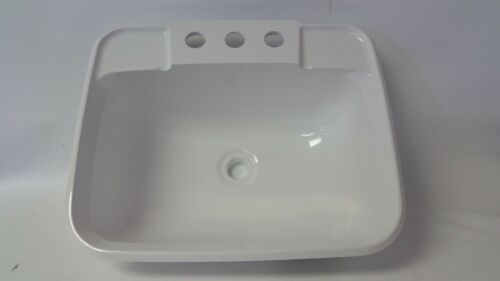 rv bathroom sink 115 x rectangle with 3 holes for faucet
