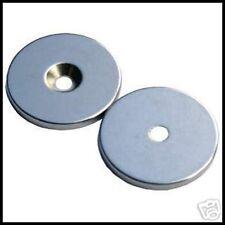 Circular Disc Magnet + central hole Neodymium 20x2mm Grade North N42. 2.2Kg PULL