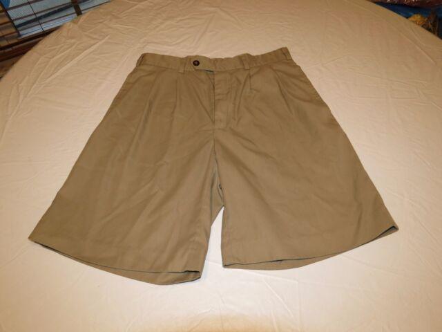 Men's Jack Nicklaus 30 golf khaki shorts tan brown polyester school work casual