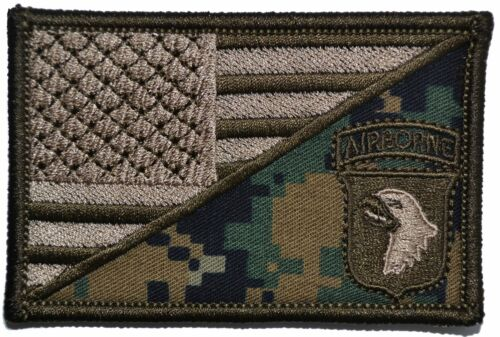 101st Airborne Division USA Flag 2.25x3.5 Patch