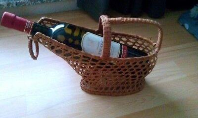 2 Stück Weinflaschenkorb Weinflaschengießer Weinkorb Flaschenkorb Weinfl.halter