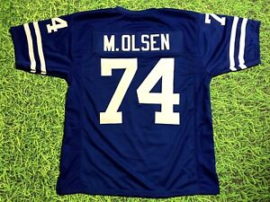 9422333d Details about MERLIN OLSEN CUSTOM LOS ANGELES RAMS JERSEY FEARSOME FOURSOME