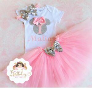 Hot pink Dresses Hot Pink Tutu Dress Minnie Polka dot Dress Minnie Tutu Dress First Birthday Dress