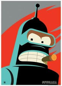 Bender Cigar Smoking Robot Futurama Character Volume 5 Dvd Cover