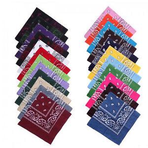 Bandana-100-Cotton-Paisley-Print-Double-Sided-Scarf-Head-Wrap-Neck-Headband