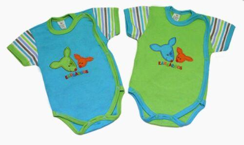 "56 Baumwolle Wickelbody /""Känguru/"" kurzärmliges Babybody Baby Ertstattung Gr"