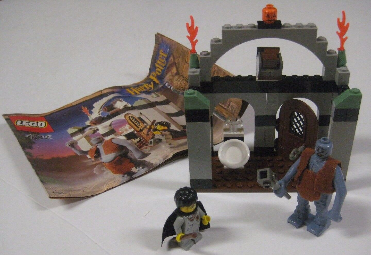 Lego 4712 Harry Potter TROLL ON THE LOOSE LOOSE LOOSE Philosopher's Stone COMPLETE w  Manual 9434c9