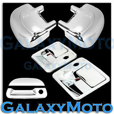 For 99-07 Ford F250 SuperDuty Chrome 2 Door Handle Tailgate Mirror Cover W//O TL