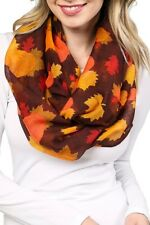 935aa428bb54e Colorful Japaneses Leaves Harvest Pumpkin Thanksgiving Wide Loop Infinity  Scarf