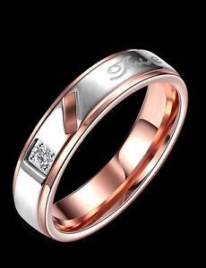 Ring Fashion Titanium Steel Ring Couple Wedding Band ring Jewelry  jewellery - Feltham, United Kingdom - Ring Fashion Titanium Steel Ring Couple Wedding Band ring Jewelry  jewellery - Feltham, United Kingdom