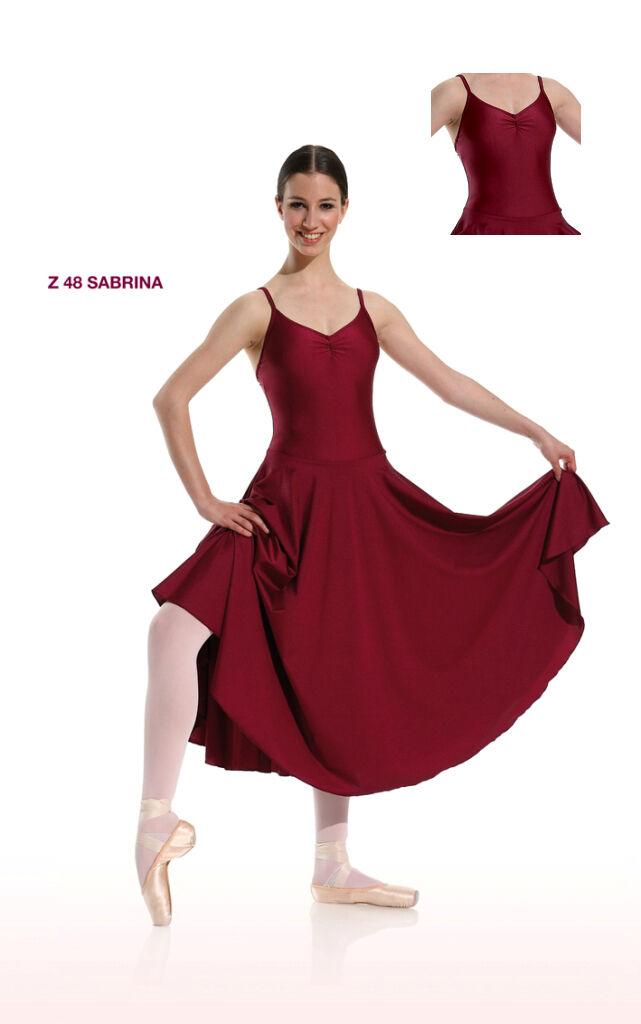 Danceries Danceries Danceries Z48 Tanzkleid Sabrina mit Spaghetti-Träger Farbe bordeaux 324d7c