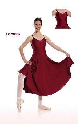 Danceries Z48 Tanzkleid Sabrina mit Spaghetti-Träger Farbe bordeaux