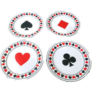 SALE-Dessert-Plates-7-5-034-Poker-Bridge-Cribbage-Texas-Hold-Cards-Snack