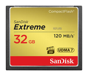 SanDisk 120MB/s Extreme S 32GB CompactFlash CF Memory Card SDCFXS-32G 32 GB 619659103705