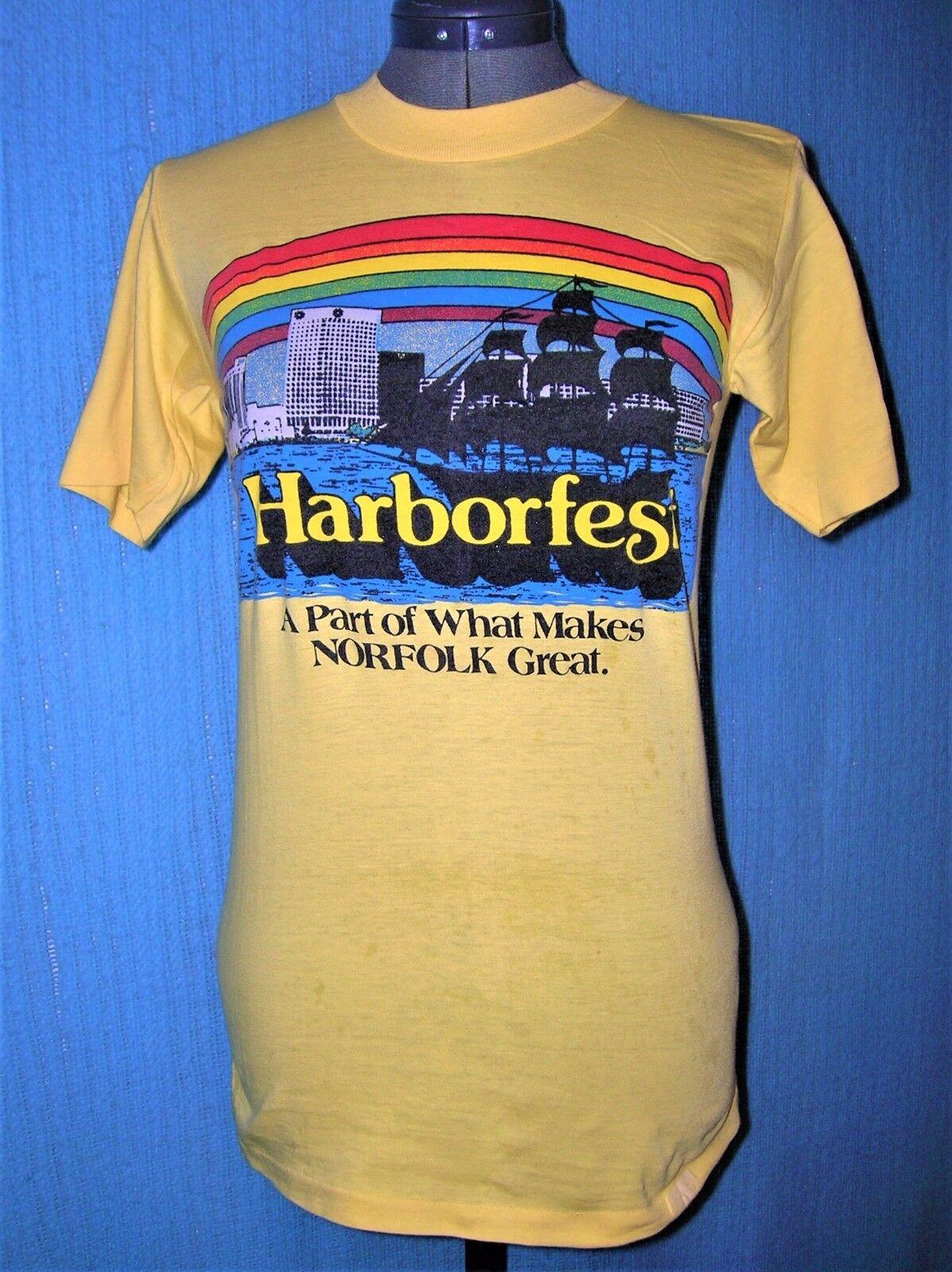 HARBORFEST ORIGINAL TIDEWATER VA  FESTIVAL T-Shirt Größe S NEVER WASHED OR WORN