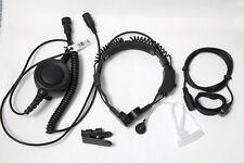 Military Throat Mic Headset Earpiece WaterProof BIG PTT For ICOM radio 2 PIN