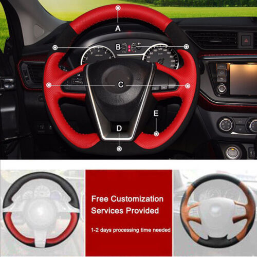 Custom PU Leather Steering Wheel Cover Stitch on Wrap For Nissan Maxima 2016