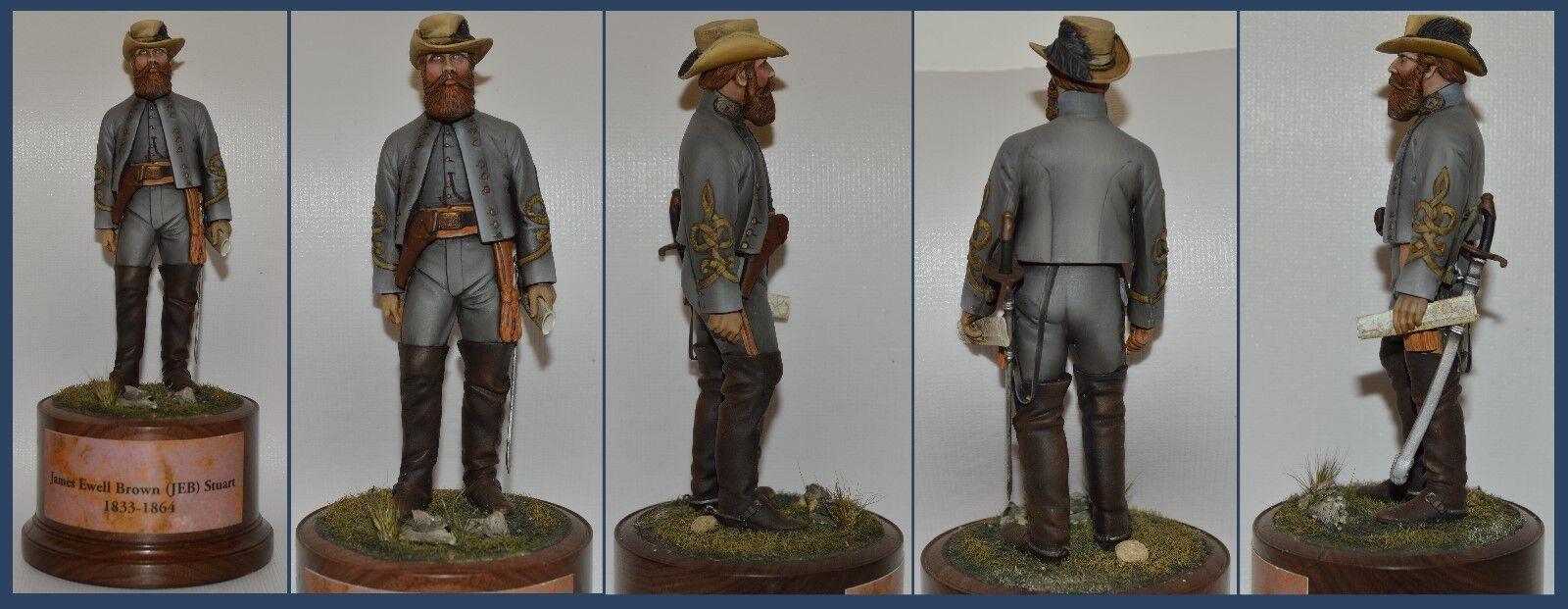 American Civil War  General JEB Stuart  Painted by Ron Wehrman (110MM)