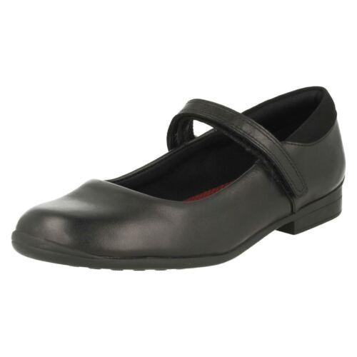 para cuero de de negro Calzado Clarks escolar niñas vUwfqqY