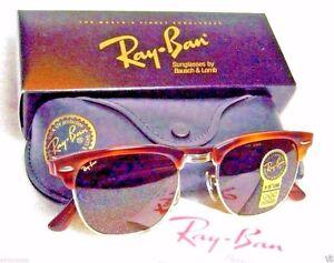 Ray-Ban-USA-NOS-Vintage-B-amp-L-Wayfarer-Set-Clubmaster-II-W1117-NewInBox-Sunglasses