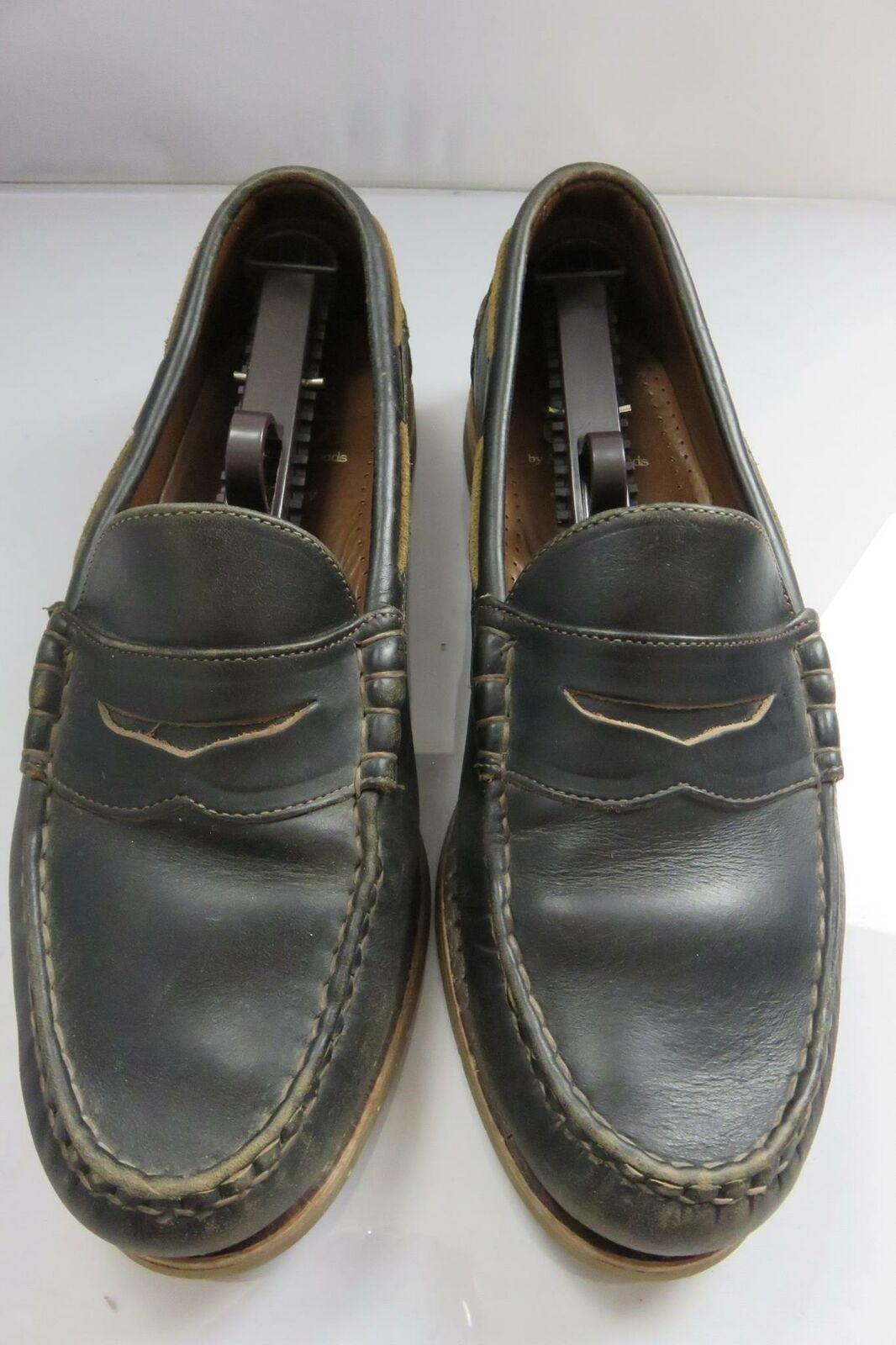 Allen Edmonds McKinley Black 10 D 10D Penny Loafers Boat Casual Dress