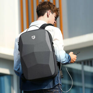 Men's backpack hard shell waterproof anti-theft multi-function large capacity R