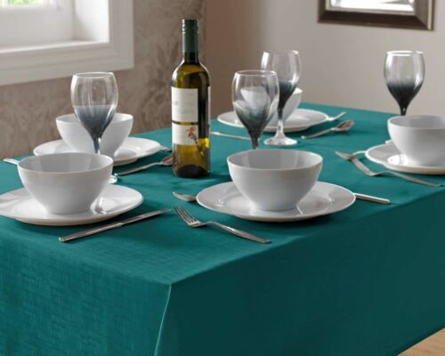 """53/"""" X 53/"""" Square Turquoise Lin Look Nappe 135 cm x 135 cm"""