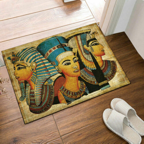 12hooks Bathroom mat home decor Egyptian theme Waterproof Fabric Shower Curtain